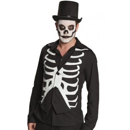 Déguisement gilet squelette homme