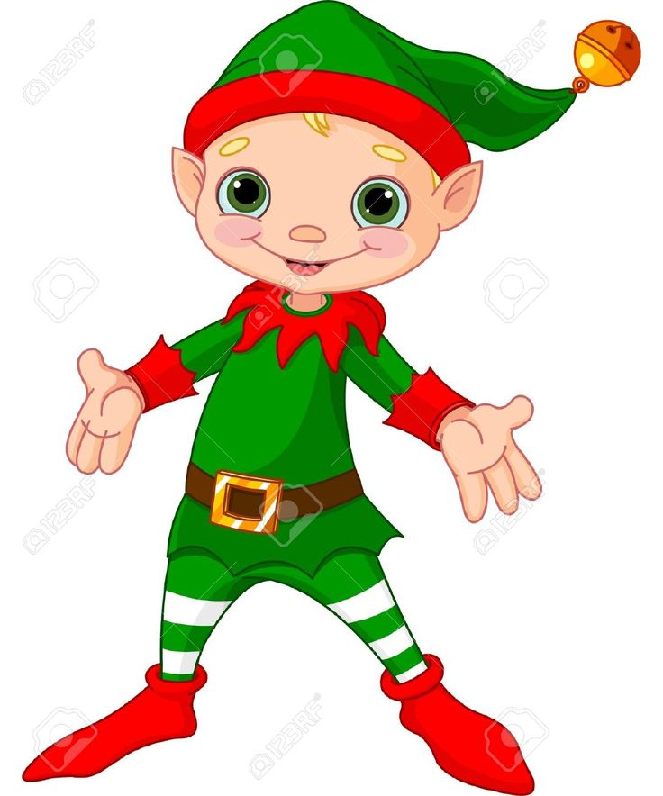 christmas elves: Illustration of happy Christmas Elf