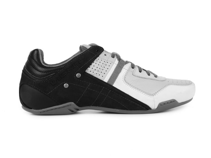 Diesel Pánské módní kožené tenisky KORBIN II / černo-šedá