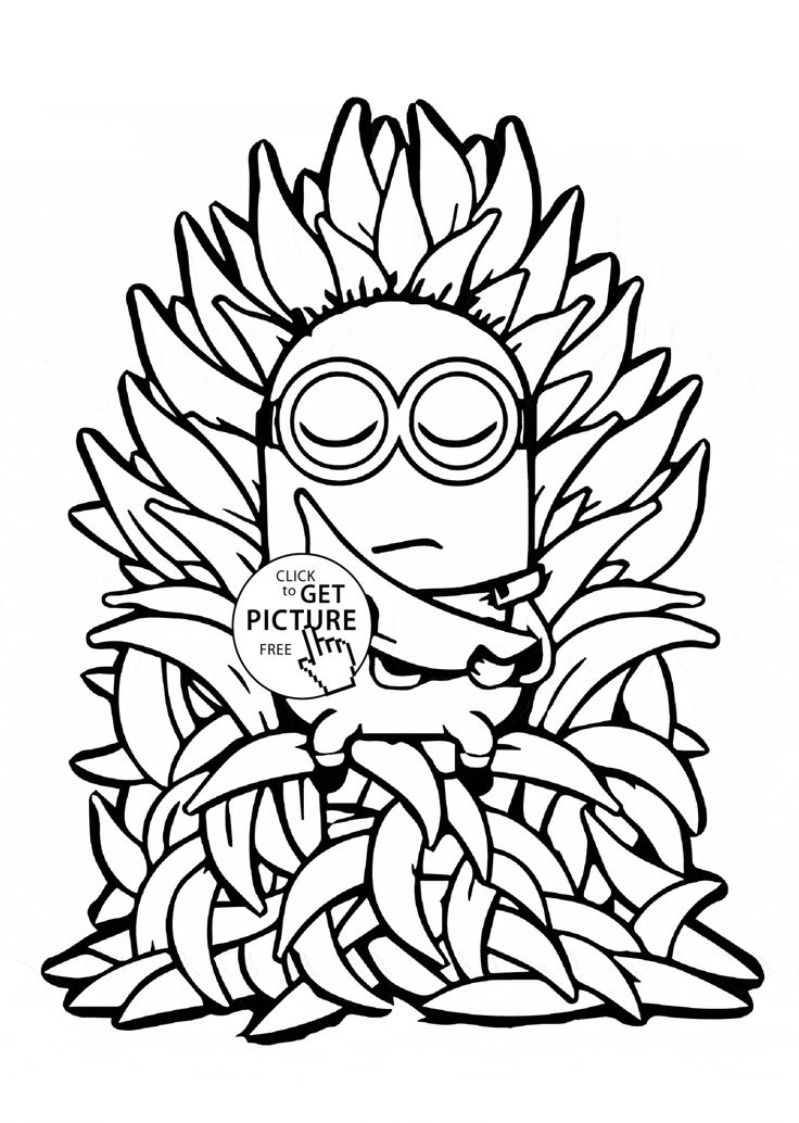 minions coloring pages banana split - photo#14