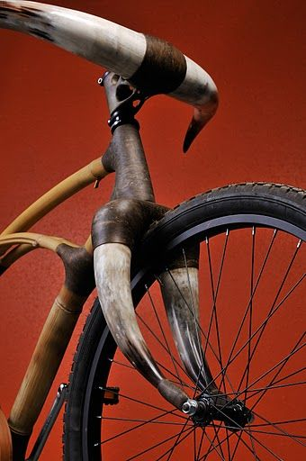 bamboo bike with horns