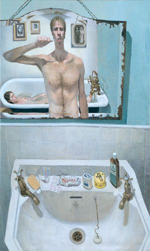 """Domestic Scene Self Portrait"" -- Stuart Pearson Wright"