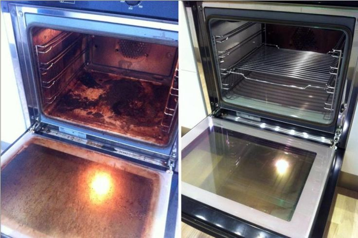 Cleaning an oven (Norwegian)