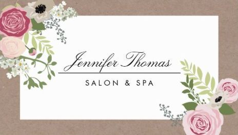 16 best girly spa and salon business cards images on pinterest vintage modern floral motif pretty beauty salon and spa business cards httpwww reheart Image collections