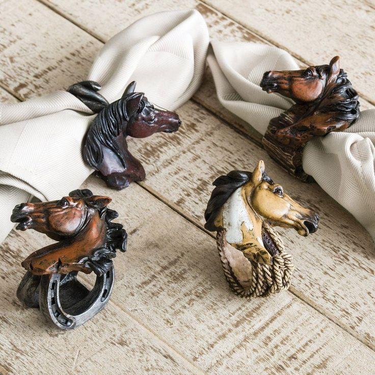 horse napkin rings