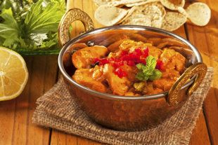 Tuck into some chicken curry