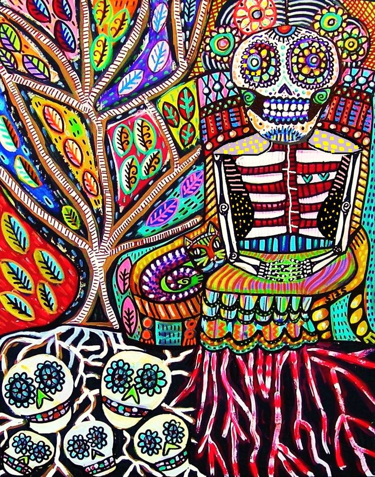 Throne+Of+Blood+&+Roots'++SILBERZWEIG+by+SandraSilberzweigArt,+$18.99