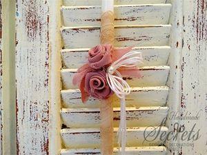 Picture of Λαμπάδα Πασχαλινή τριαντάφυλλα