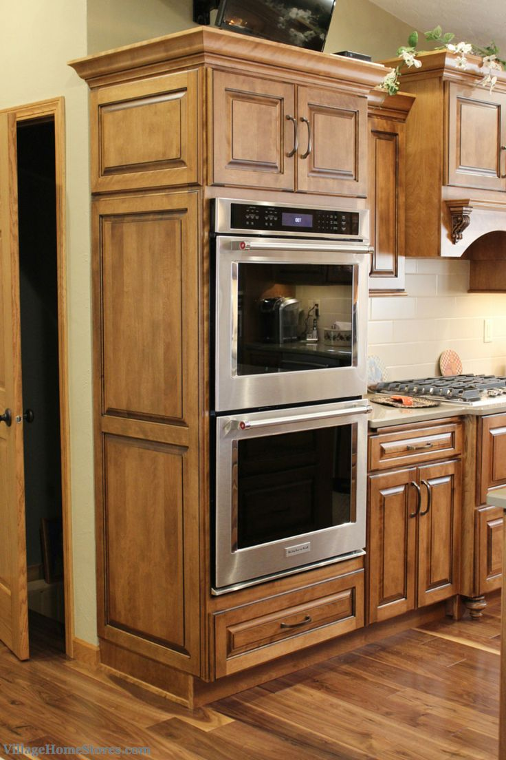 Wall oven cabinet the image kid has it for Double kitchen cabinets