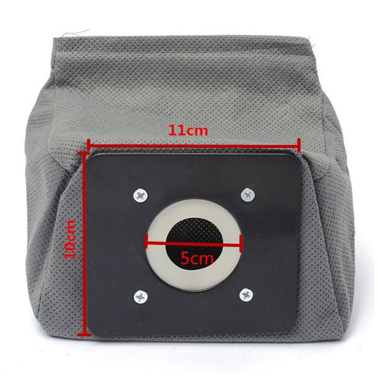 3 pcs praktis tas Vacuum cleaner, Tas Non Woven HEPA Filter yang, Kantong debu, Cleaner tas lingkungan aksesoris untuk Cleaner 11 x 10