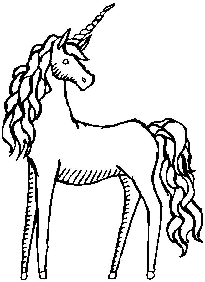 15++ Unicorn pictures clipart black and white info