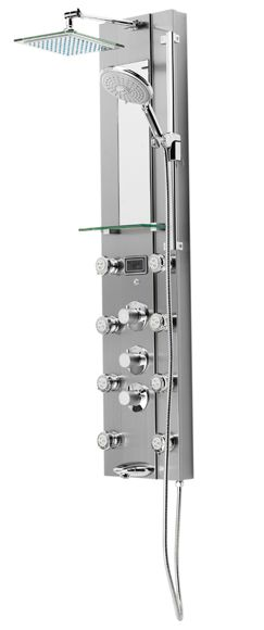Columna de hidromasaje bañera termostática Florida mate Ref. 15031044 - Leroy Merlin