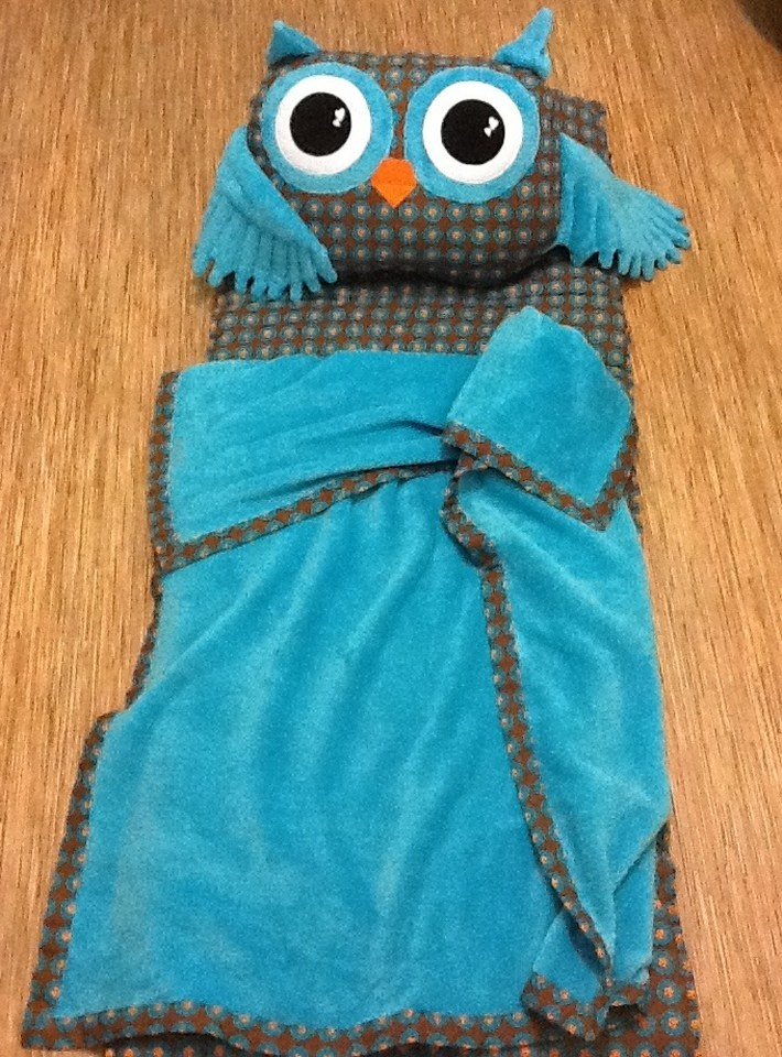 homemade owl sleeping mat for my son