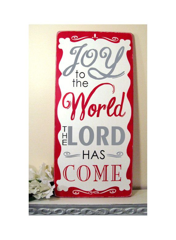 Christmas sign - JOY to the World Sign.