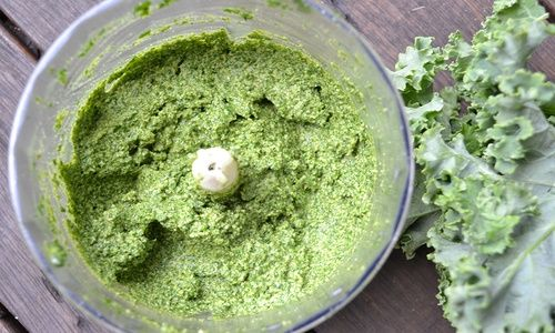 Kale, sage and walnut pesto