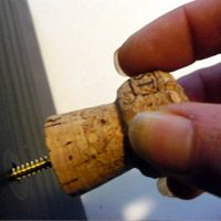 champagne corks drawer pulls (wine corks wouldn't work here as you need