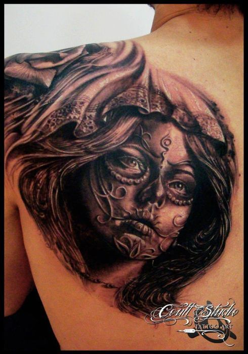Sugar skull tattoo best tattoos ever tattoo by led for The best tattoos ever