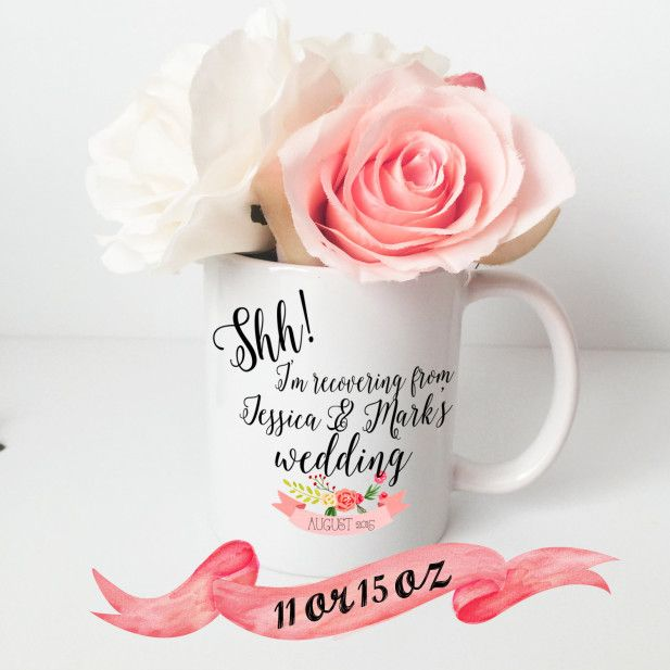 'Morning after' coffee mug for the wedding party!