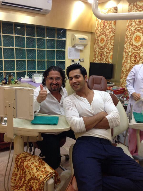#VarunDhawan the new superstar of bollywood at Dr. Sunil International Dental Clinic