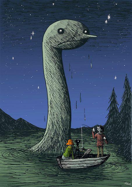 Uetsuji Shotaro - Lake monster and bogus UFO by Aeron Alfrey, via Flickr