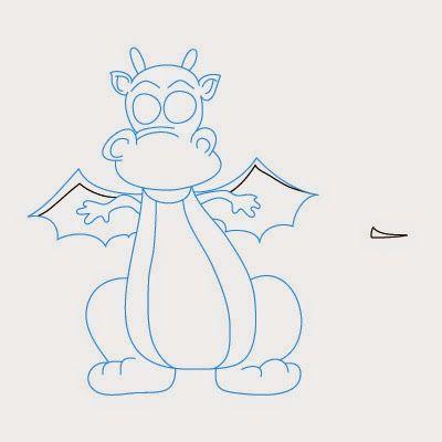 Les 25 meilleures id es de la cat gorie dessin dragon - Dessin dragon simple ...