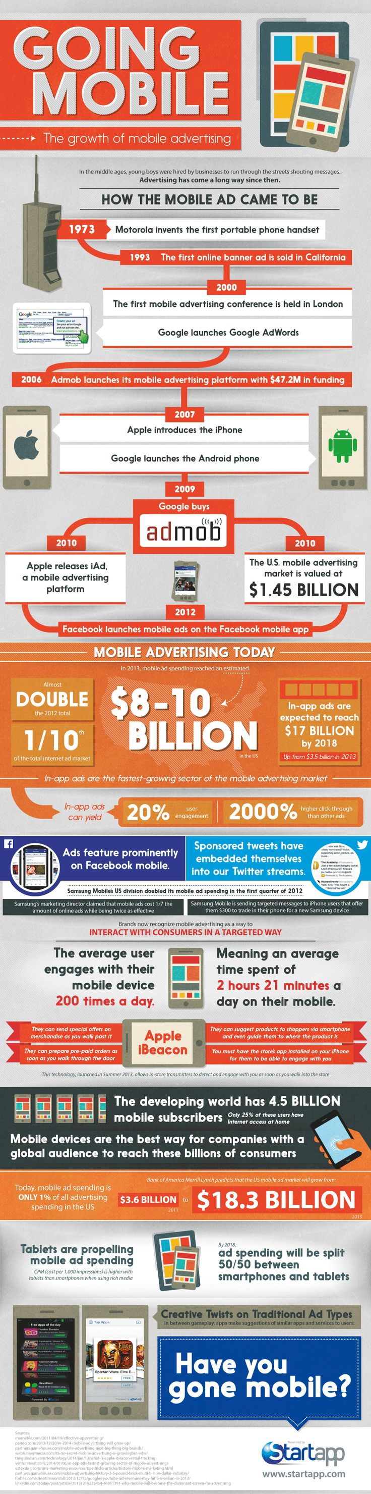 The Growth of Mobile Advertising   #Infographic #Mobile #Advertising