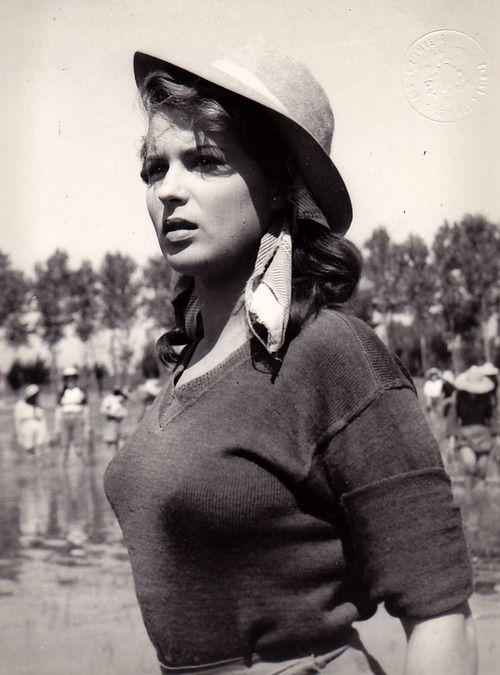 Silvana Mangano Bitter Rice 1949 vintage #actress