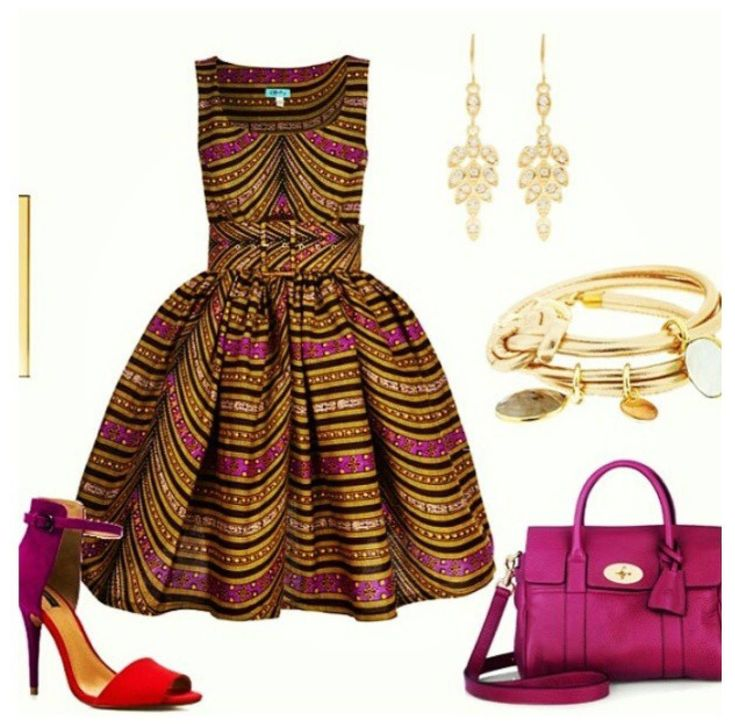 Ankara Style -something like this but with tea length skirt would be perfect for done functions I have coming up!!!!