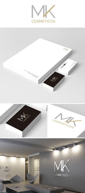 Branding e Folheteria MK Cosméticos.
