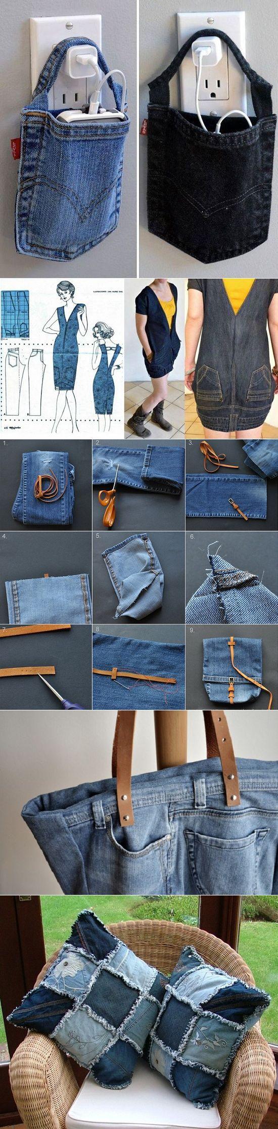 Старые джинсы как источник вдохновения для новых вещей