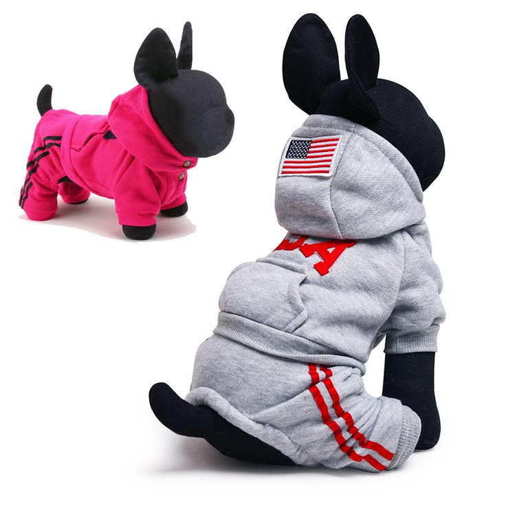 Autumn Winter Dog Jumpsuit USA Brand Small Dog Sport Clothes Hoodies Puppy Chihuahua Yorkshire Terrier Teddy Clothing XXS XS-L