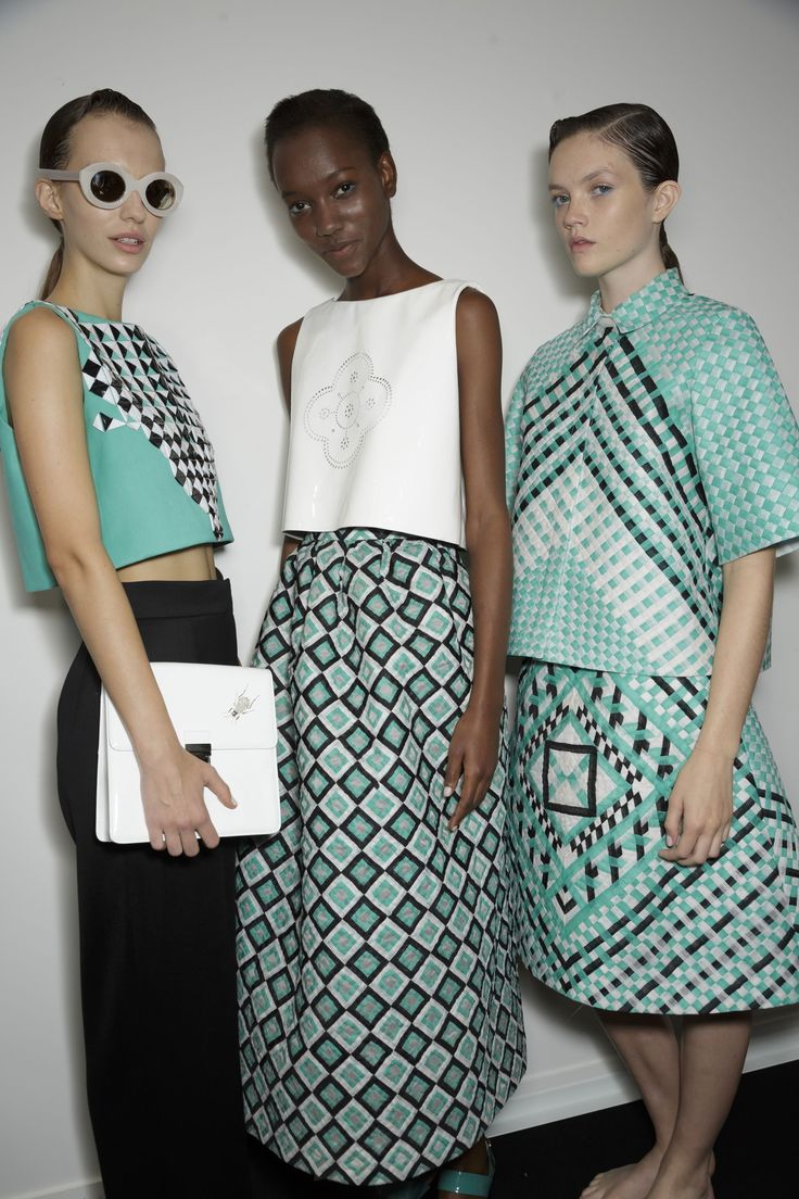 Loving this print - Holly Fulton Spring 2015 RTW #SS15 #fashion #style