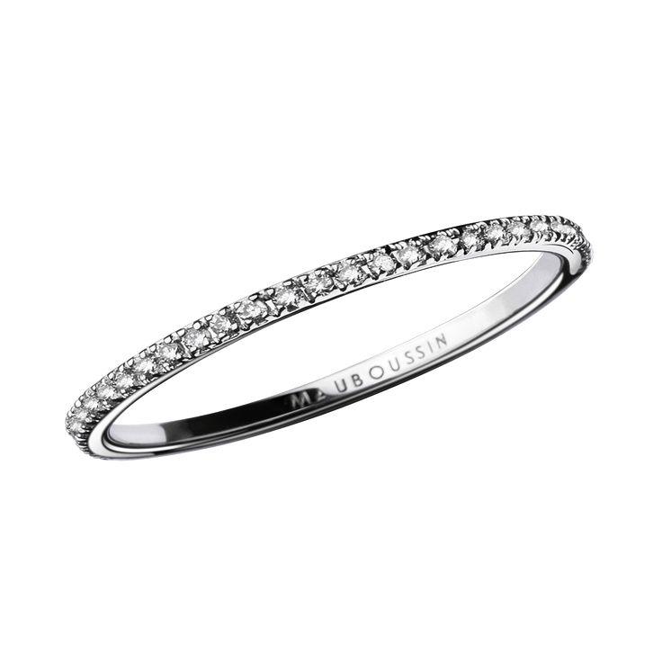 Alliance Parce que je l'aime, or blanc et diamants - Mauboussin