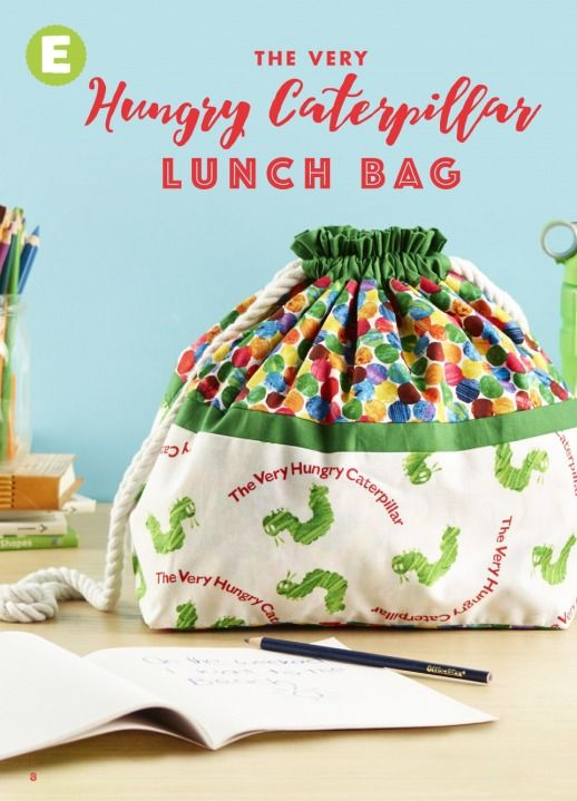 Hungry Caterpillar lunch bag - Click through for instructions