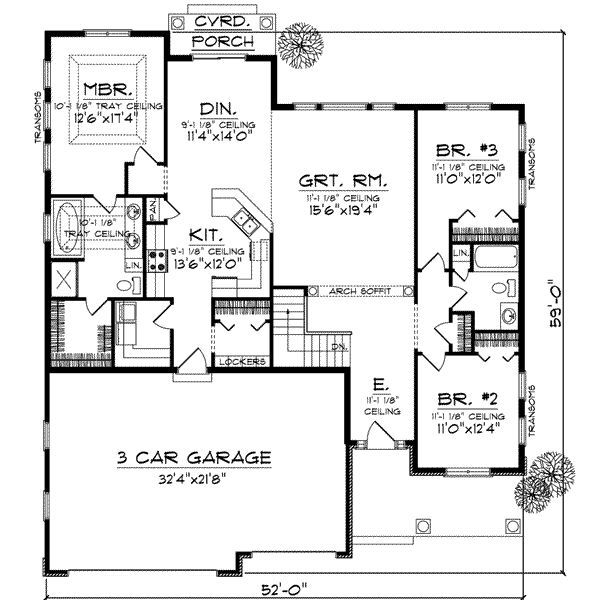 First Floor Plan Of Bungalow House Like The Laundry With Mud Room Seperate 1867 Sq Ft Wide Make Smaller Take Off Bedrooms On Right Side