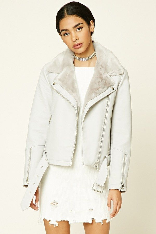 Forever 21 Belted Faux Leather Moto Jacket on ShopStyle.