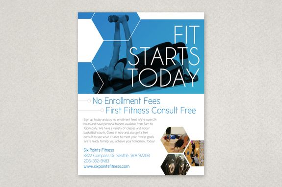 Modern Fitness Flyer Template u2014 This bold and simple flyer design - Gym Brochure Templates