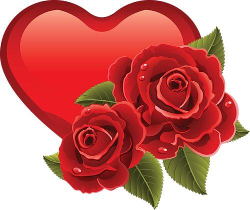 RED HEART AND ROSES | Papel de parede de coração, De ...