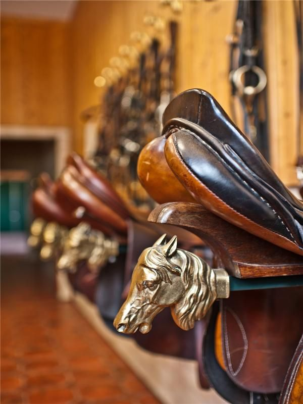 German saddle rack  For my beautiful future barn, when I have a very rich husband to buy me this.