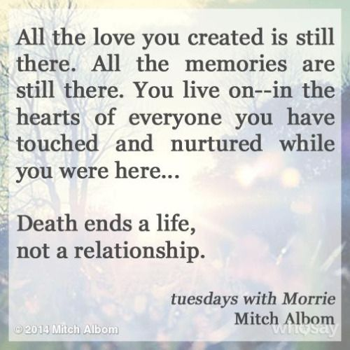 a sympathy for morrie in tuesdas with morrie Get an answer for 'how does the point of view of morrie and mitch in tuesdays with morrie influence the reader' and find homework help for other tuesdays with morrie questions at enotes.