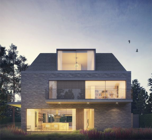 207 best images about detached houses on pinterest for Hofman dujardin architects