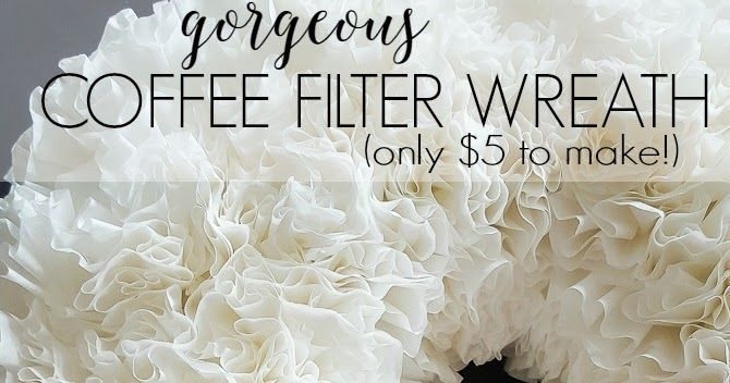 If you like home decor on a dime, you must try a coffee filter wreath! For only $5, you can have a beautiful wreath that makes a bold statement! The full tutorial is available at www.diybeautify.com.
