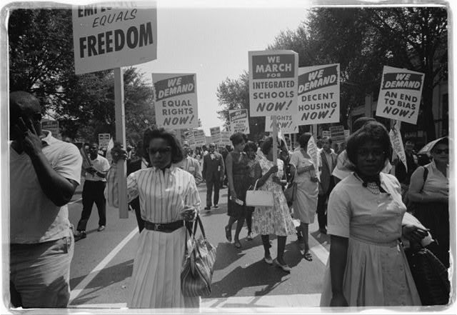 Civil rights march on Washington, D.C.  Photo by Warren K. Leffler, August 28, 1963. U.S. News & World Report Magazine Photograph Collection, Library of Congress Prints and Photographs Division