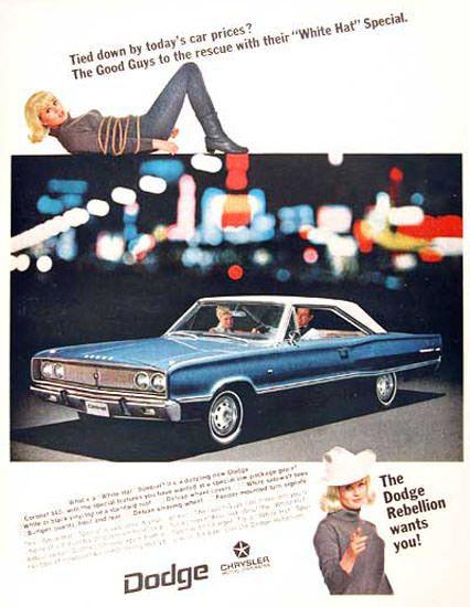 Dodge Coronet 1967 Dodge Rebellion Wants You - Mad Men Art: The 1891-1970 Vintage Advertisement Art Collection