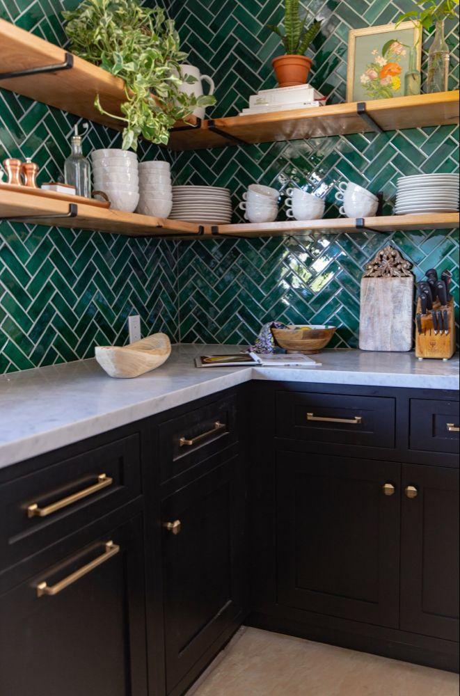 Before After Bluegrass Bohemian Kitchen Green Kitchen