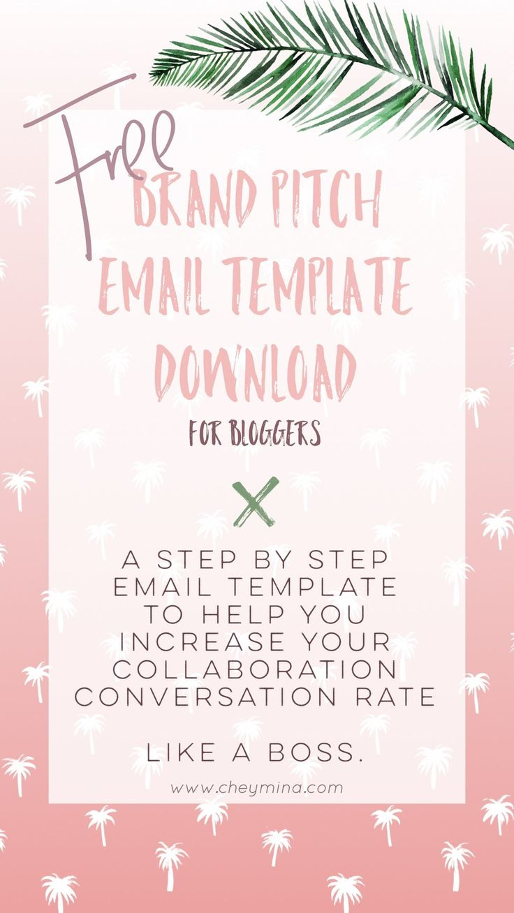 Free Download: Brand Pitch Email Template
