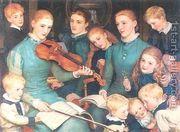 A Christmas Carol at Bracken Dene 1878-79  by Arthur Hughes