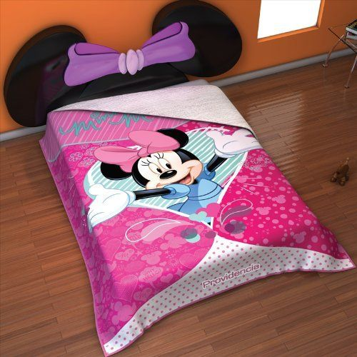 """Disney Sweet Minnie Twin Size Reversible Super Soft Micro Fiber and White Plush Blanket by OctoRose. $49.99. faux fur Plush and polo fleece Micro fiber reversible super soft warmth and light weight Disney blanket.. 100% polyester. Size: Twin 59x79"""". Color: Vivid Printing sweet minnie. Care:Easy Machine Washing Cold Water.. This is luxurious super soft, warmth, light weight Disney Tinkerbell printing blanket / bedspread / throw. It can fit Twin Size bed. 100% polyester white-cr..."""