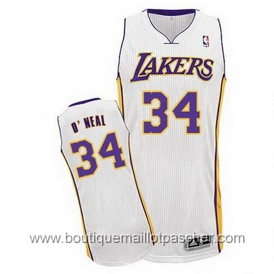 maillot nba pas cher Los Angeles Lakers O`Neal #34 blanc mesh tissu 22,99€