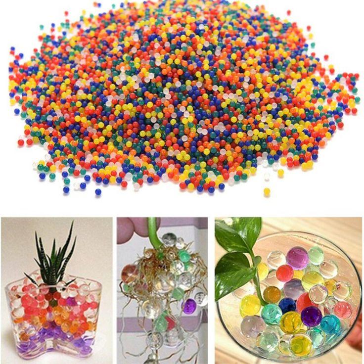 10000 Unids/lote Agua Granos de la Perla En Forma de Cristal Del Suelo de Barro de Agua Perlas Grow Bolas Mágicas de La Jalea de La Boda Decoración de Hidrogel
